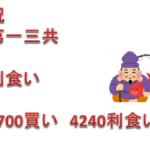フィボナッチ相場分析 2019年2月27日(水)第一三共 利食い!